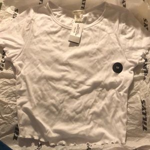 tillys white ruffle shirt